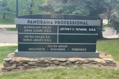 Exterior office sign